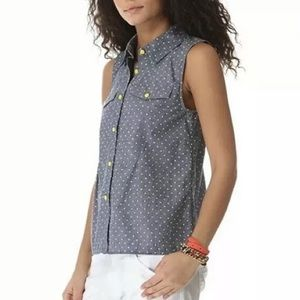 Marc By Marc Jacobs Tops - Marc By Marc Jacobs Dotty Chambray Shirt Polka Dot